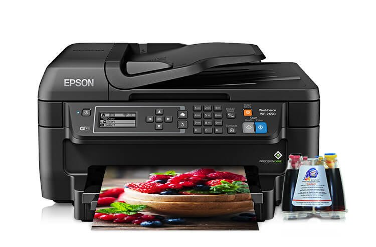 фото МФУ Epson Workforce WF-2650 Refurbished с СНПЧ