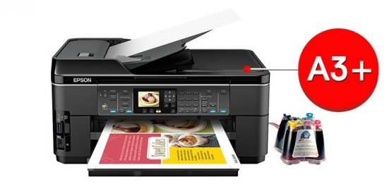 фото МФУ Epson WorkForce WF-7510 с СНПЧ