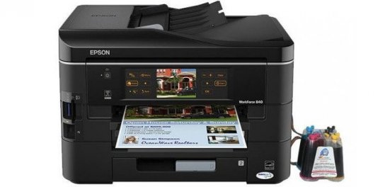 фото МФУ EPSON WorkForce 840 Refurbished с СНПЧ