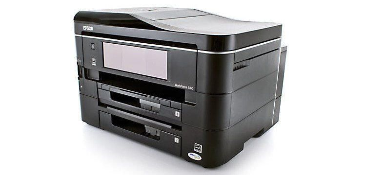 EPSON WorkForce 840 Refurbished с СНПЧ 2
