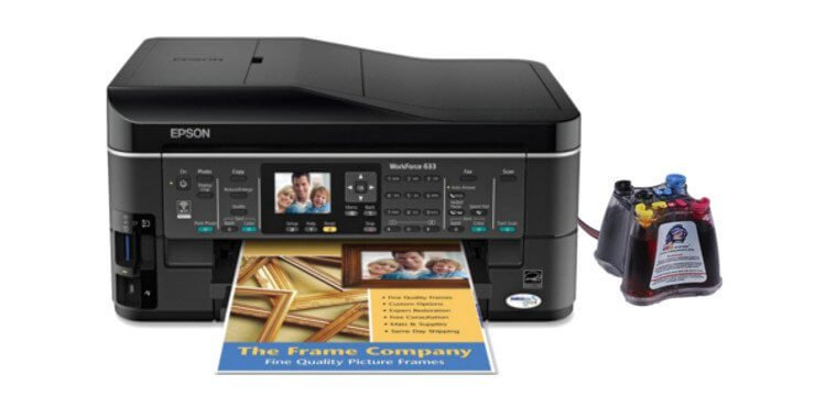 EPSON WorkForce 633 Refurbished с СНПЧ 3