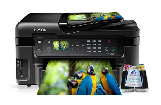 фото МФУ Epson Workforce WF-3520DWF с системой НПЧ