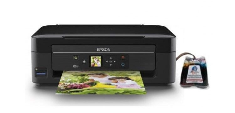 фото МФУ Epson Expression Home XP-322 с СНПЧ